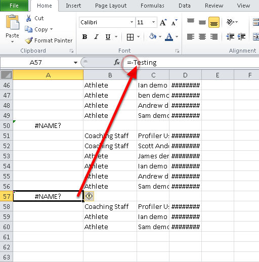 "5. With the changes in Excel to Excel 2010, when you open the csv file some of the group names may not be showing correctly because the ""-Name"" is being referenced as an equation."
