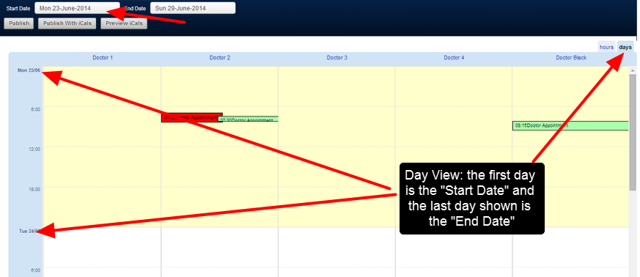The Schedule Events for the Related Entity as a Day view