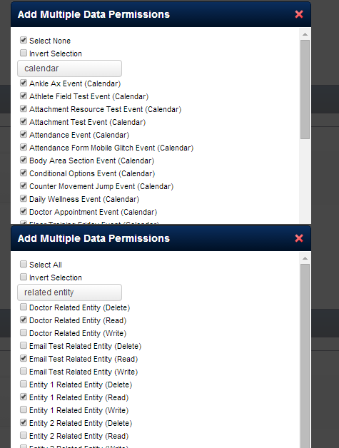 Ideally, you would set up a special login with Access to all Scheduling/Appointments Forms, and all athletes. This way all data appears