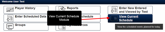 The View Current Schedule is a Day view of the Events which have been scheduled by related entity types used in scheduling forms