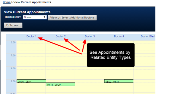 Any Related Entities that you have access will appear on the Page. The Page ONLY shows today's entries