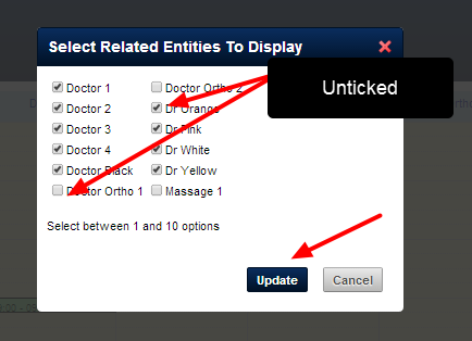 Limit and/or choose only specific Related Entities (up to 10)