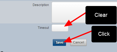N.B. To remove a timeout length from a role simply clear the time and save it. It will then default to -1