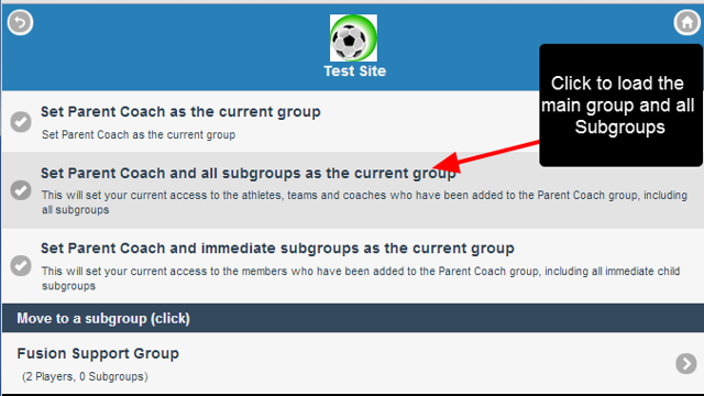 Choose to load the group, the group and all subgroups, the group and only immediate subgroups, or change to a subgroup
