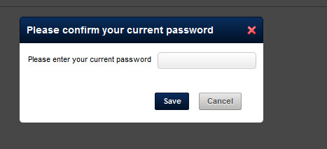 Once you click Save, you will also need to Confirm your password for extra security