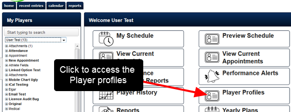 """If a user has access to the """"Edit Athlete Accounts"""" system permission, they can edit the account information online through the Profile Pages"""