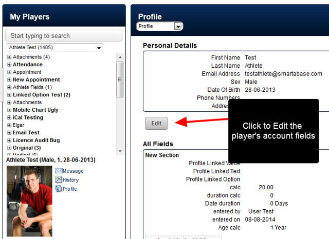"""On the Profile Page Overview, an """"Edit"""" button will appear below the Personal Details"""