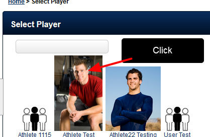 Select the Player to be updated