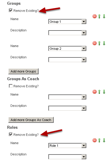 """Import the new grouping structures (see importing multiple groups and roles) and click """"remove existing"""" to take them out of the archive group (the group you have just added them to) and import the athletes into new groups/roles"""