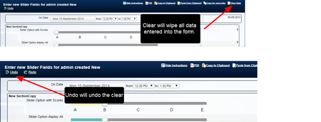 """If a user mistakenly clears the data they want, they can click """"Undo"""" to reverse the clear."""