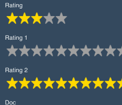 Too many Star Rating Field stars will run off the page on the iPod or iPhone version in portrait view