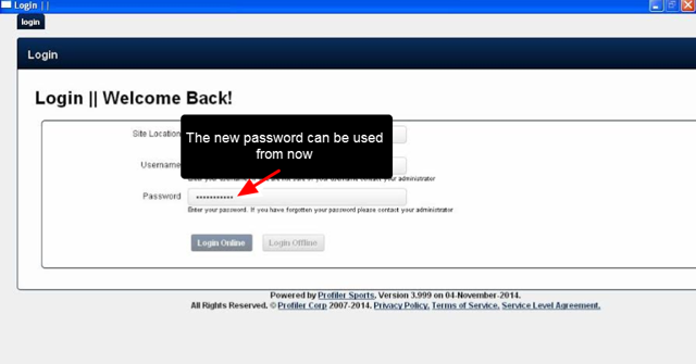 The software will load and the new, more secure, password can be used to access the installed system online and offline
