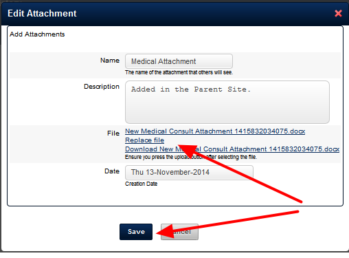 An Attachment is Uploaded and Saved with the Form