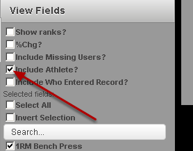 """To run an anonymous Report (when the athlete's name is not included), deselect the """"Include Athlete?"""" button"""