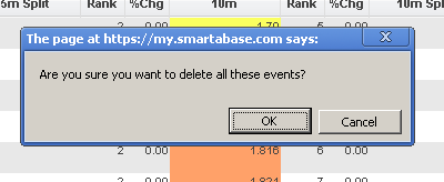 """1.1 Once you select """"Delete All"""" all of the event data (e.g. each complete event) showing in your report will be deleted"""
