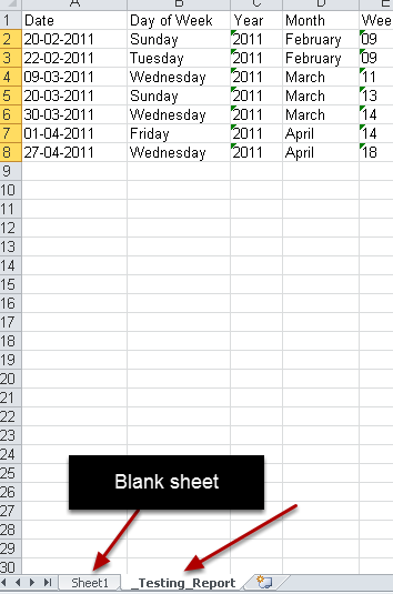 A Blank workbook will open up with the athlete's data on the second workbook