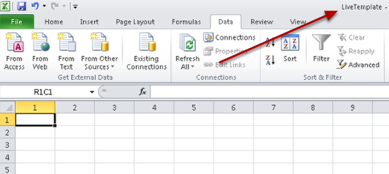 Download the template file for your excel reports- ask your distributor for more details on this