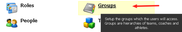 To Add in New Group, Click on the Groups Button