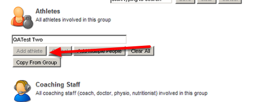 """Now click on """"Add Athlete"""" to add them to the group"""