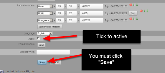 """The Administrator needs to open their details and activate them by ticking the """"Active"""" button and then clicking Save. You only need to do this if there is no default role, or if they are not set to autoactive"""