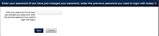 If you make any changes to your account, you need to enter in the password that you logged in with the confirm these changes