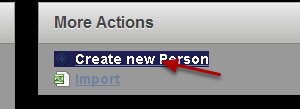"""Select """"Create new Person"""""""