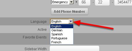 Internationalisation... what language will appear on login
