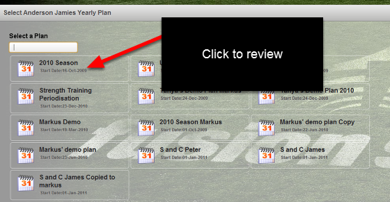 """You can see which plans have been assigned to an athlete when you click on """"Yearly Plans"""", """"View Athletes Plan"""". You can open these plans and review them, but not edit them."""