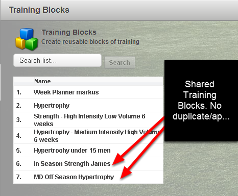 If you choose to make your Training Block available to other Professionals on the system and they do not have access to the Event that you created the Training Block from, they will not be able to use the Training Block.