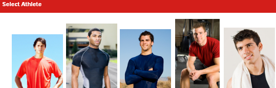 Select the Athlete's History you want to view