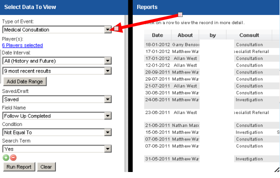 The Report Loads in the Reports Page