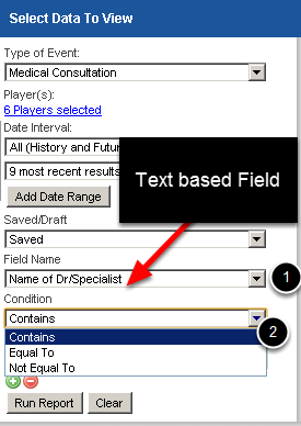 You can now search Text boxes for specific text matches. This feature is automatically available in the Reports Page