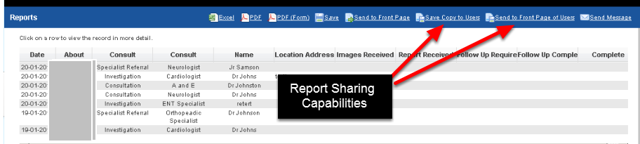 1. You may have access to two new Report Page capabilities for sharing reports, or setting up home page reports on other users' systems
