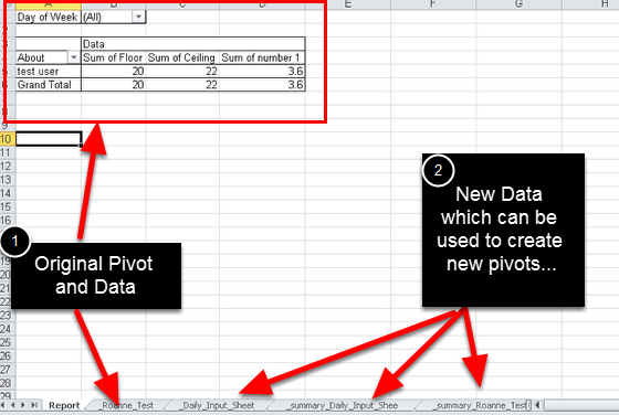 Update any links or pivot tables in your report.