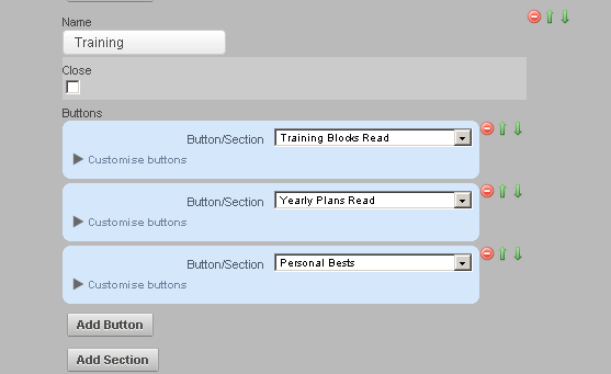 Create additional Sections that group your Modules together. For example, you could create a Training Section (as shown in the image here)