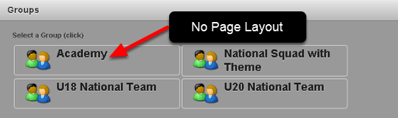 When the Coach changes Groups to a Group with no Page Layout, the site will then display a Page Layout assigned to the Role/s that the Coach is in (as shown in the image in the step below)