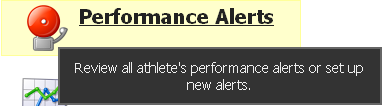 "To see a complete list of Activated Performance Alerts click on the ""Performance Alerts"" button from the Home Page"