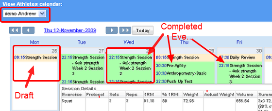 Entering data into a planned event using the Calendar