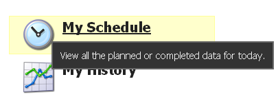 """Click on """"My Schedule"""" on the Home Page"""