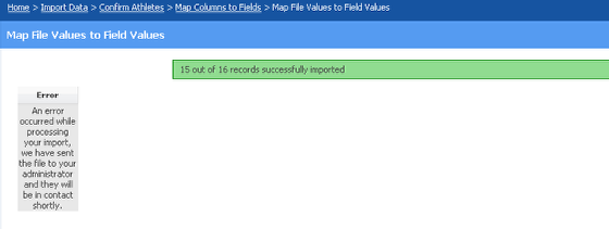 Import Data Completed