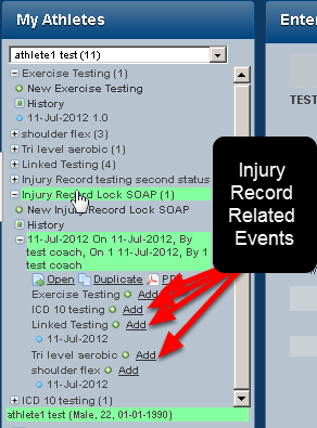 N.B. Related Events are also the records that appear for entry with the Event Form and they appear in the sidebar with the Event Form they are related to