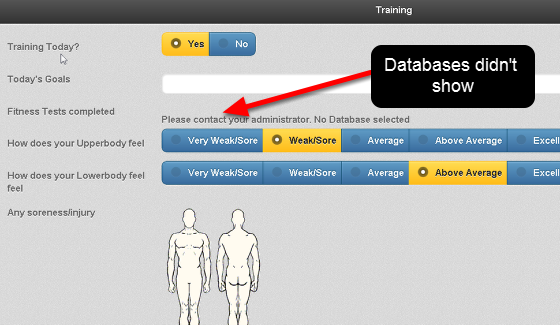 Previously, you could not access Database fields on the iPad/iPhone version