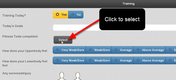 """To enter in a database field click on the """"Select"""" button, type in the name and click search (see the step below)"""