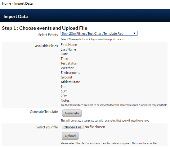 Both the Start Time and Finish Time can be used during an import. Follow the normal import steps to get to data mapping