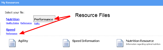 You will see any Resources that have already been uploaded and are available to download
