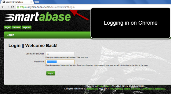 When you are given your login instructions you can go directly to your Internet Browser and access the system