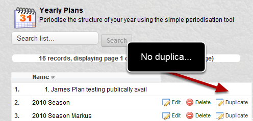 """The """"Duplicate"""" button on the Publically Available Yearly Plans was not appearing"""