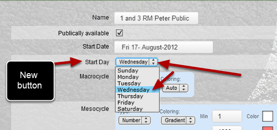 Now you can select a start date for the weeks to run from, e.g from Monday to Sunday, Friday to Thursday
