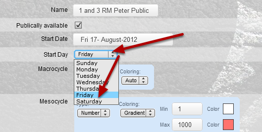 If we use the same yearly plan and change the Start Day, the data will be grouped differently in the Yearly Plan