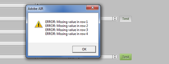 If it says ERROR: Missing value, this means there is no data in the column that you are trying to import. The import will work because no dates are entered